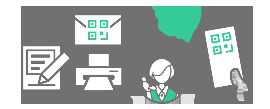 QRチケット-内線電話受付スタイル(無人受付)のイメージ
