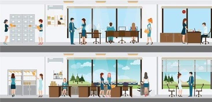 複数オフィス(テナント)対応イメージ